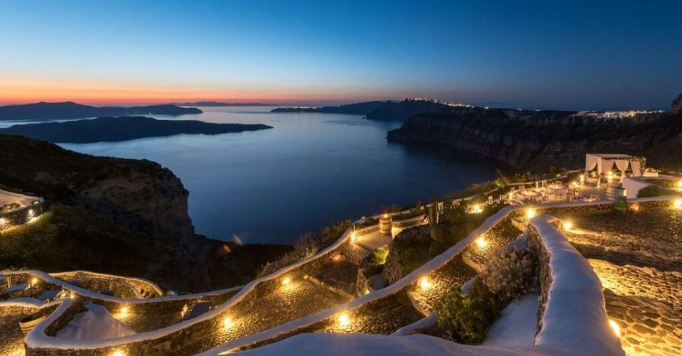 Venetsanos - terrace et mer nuit